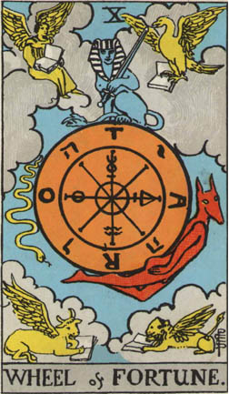 YHWH on tarot cards